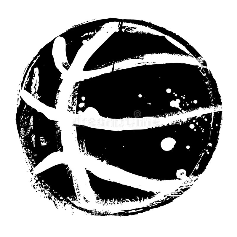 Vetor do basquetebol de Grunge ilustração royalty free