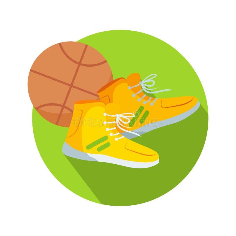 Vetor do basquetebol do botão da Web das botas e da bola do futebol ilustração royalty free