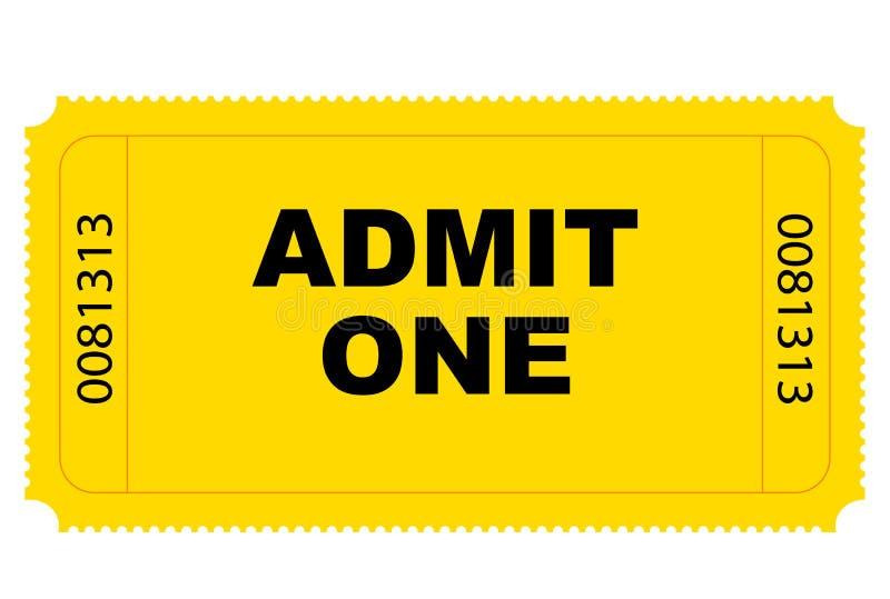 Vetor do bilhete da entrada ilustração stock