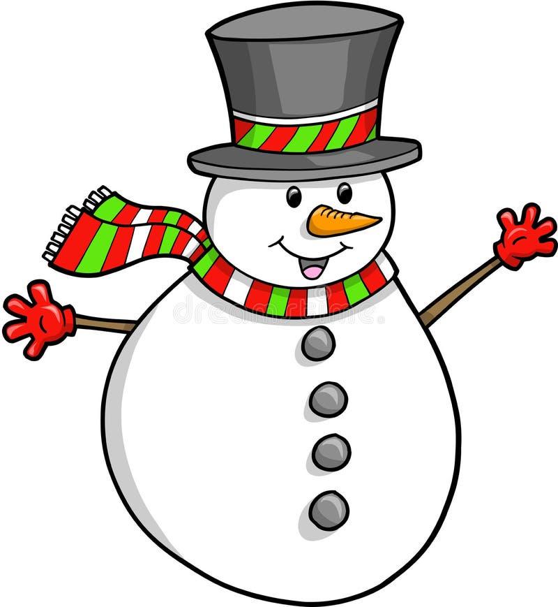 Vetor do boneco de neve do feriado do Natal ilustração stock