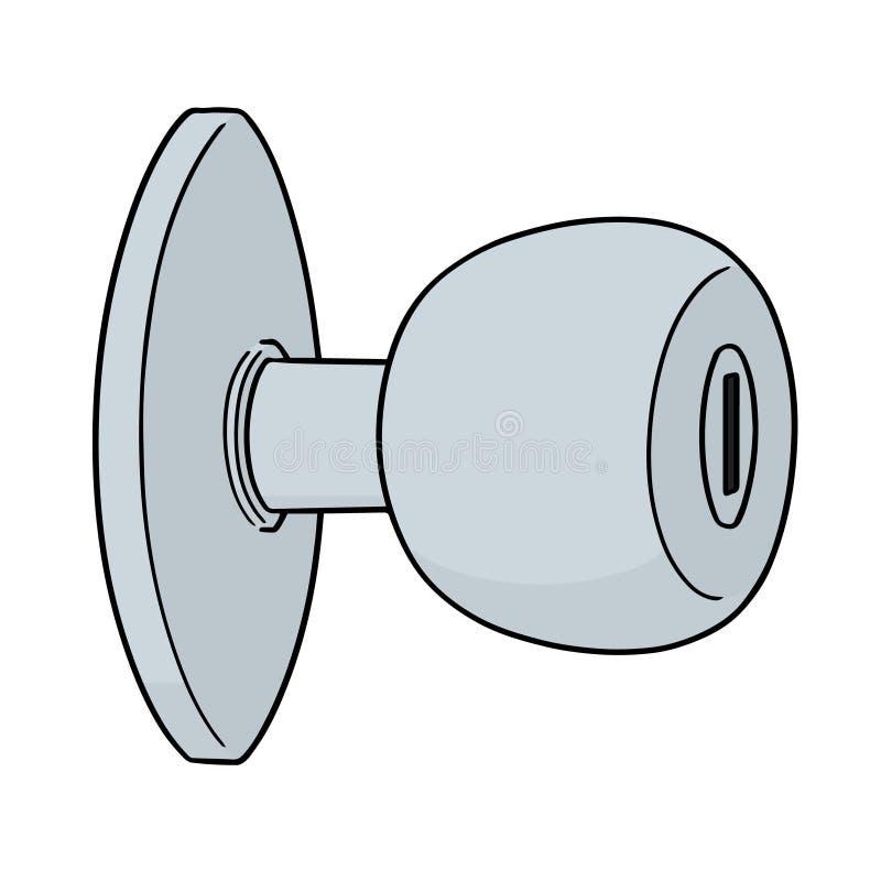 Vetor do botão de porta ilustração royalty free