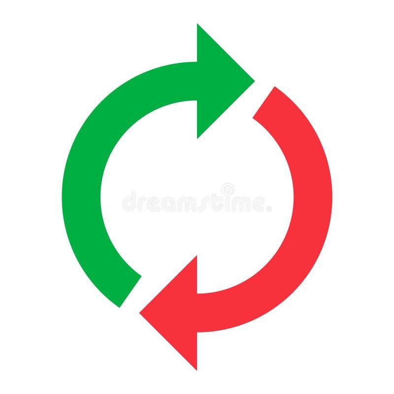 Vetor do botão do círculo ilustração royalty free