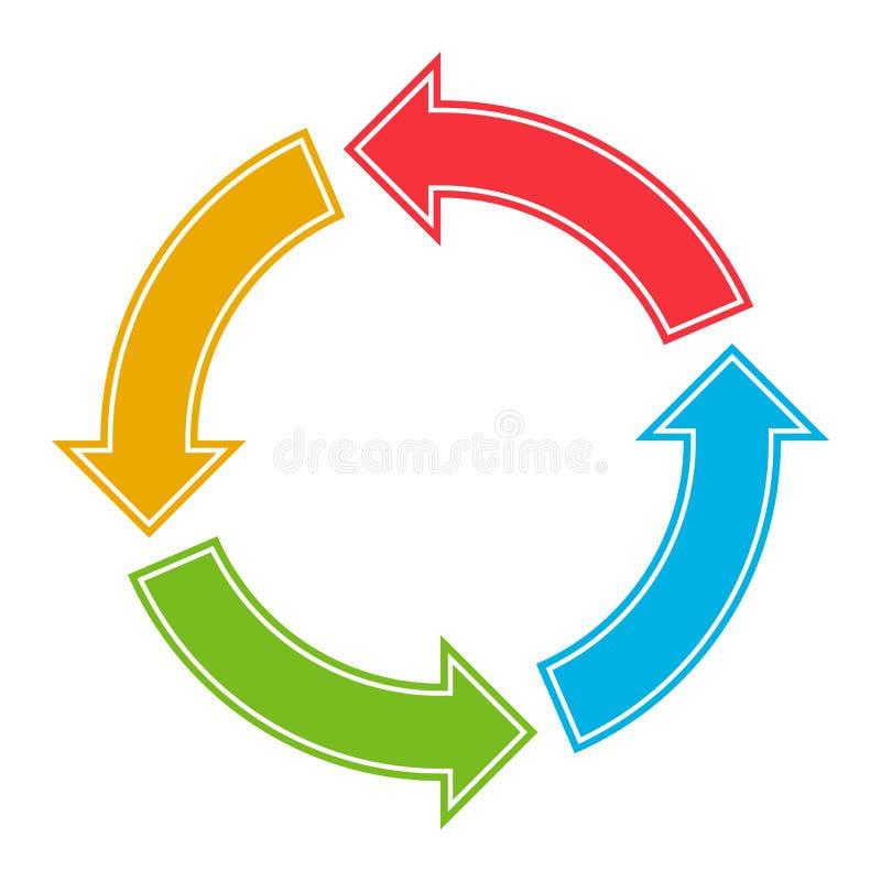 Vetor do botão do círculo isolado ilustração stock