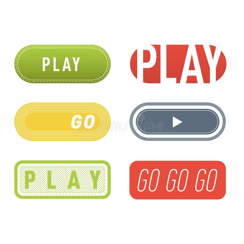 Vetor do botão do jogo ilustração stock