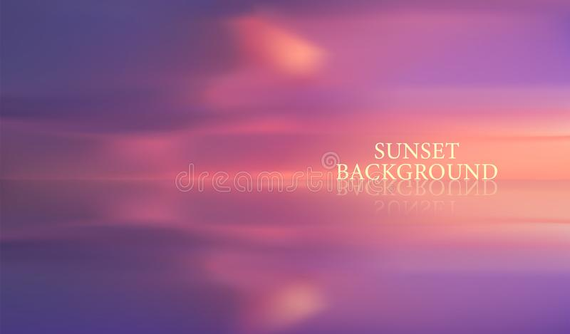 Vetor do céu durante o por do sol ilustração do vetor