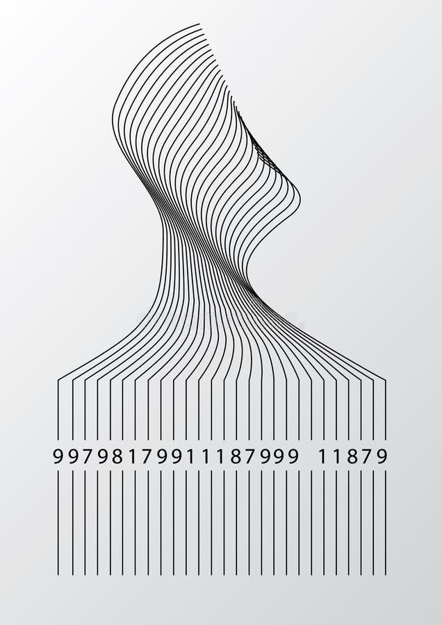 Vetor do código de barras ilustração royalty free
