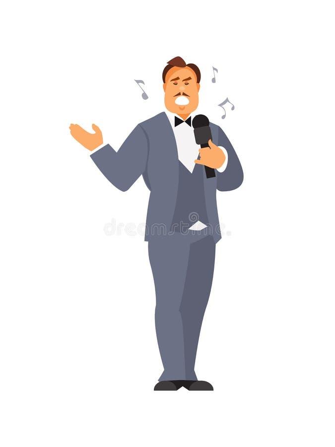 Vetor do cantor de Opera ilustração stock