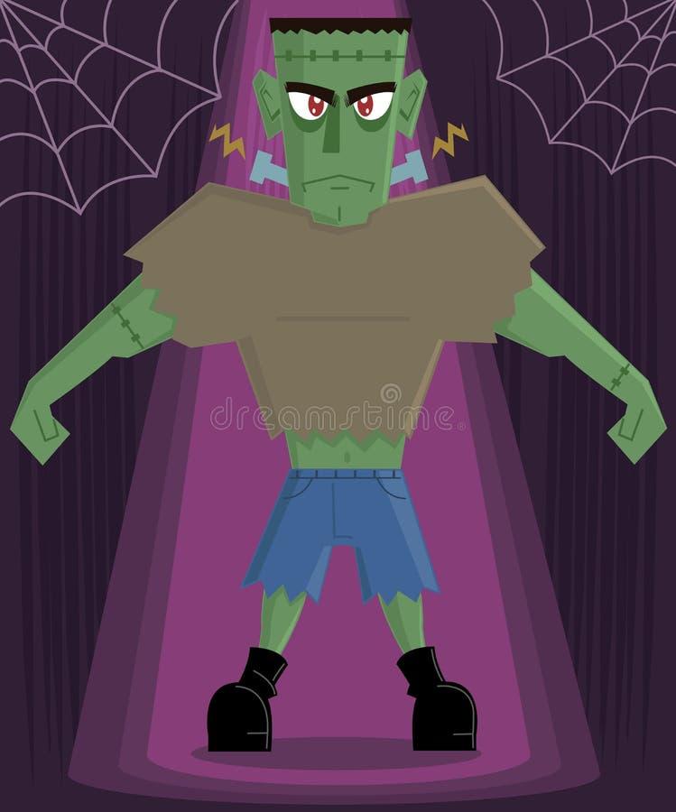 Vetor do caráter de Halloween do monstro de Frankenstein ilustração stock