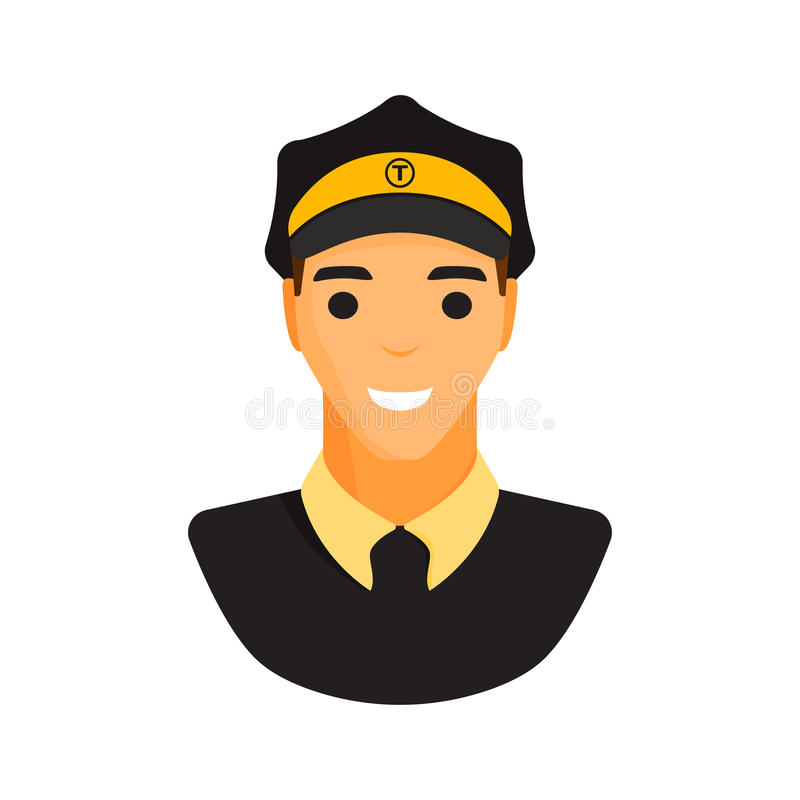 Vetor do caráter do taxista do motorista do Limo ilustração do vetor