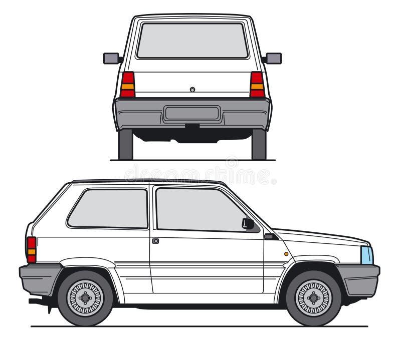 Vetor do carro compacto ilustração royalty free