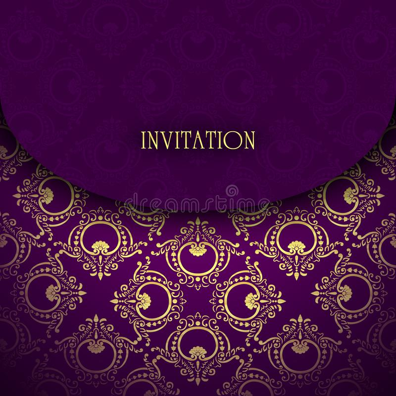 Vetor do cartão do convite fotos de stock royalty free