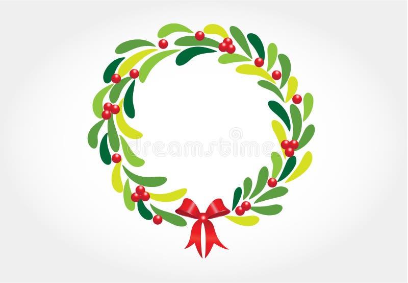 Vetor do cartão de cumprimentos da grinalda do Natal ilustração royalty free