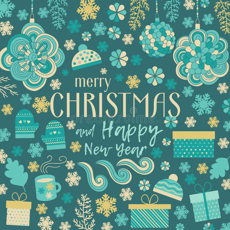 Vetor do cartão do Natal ilustração do vetor