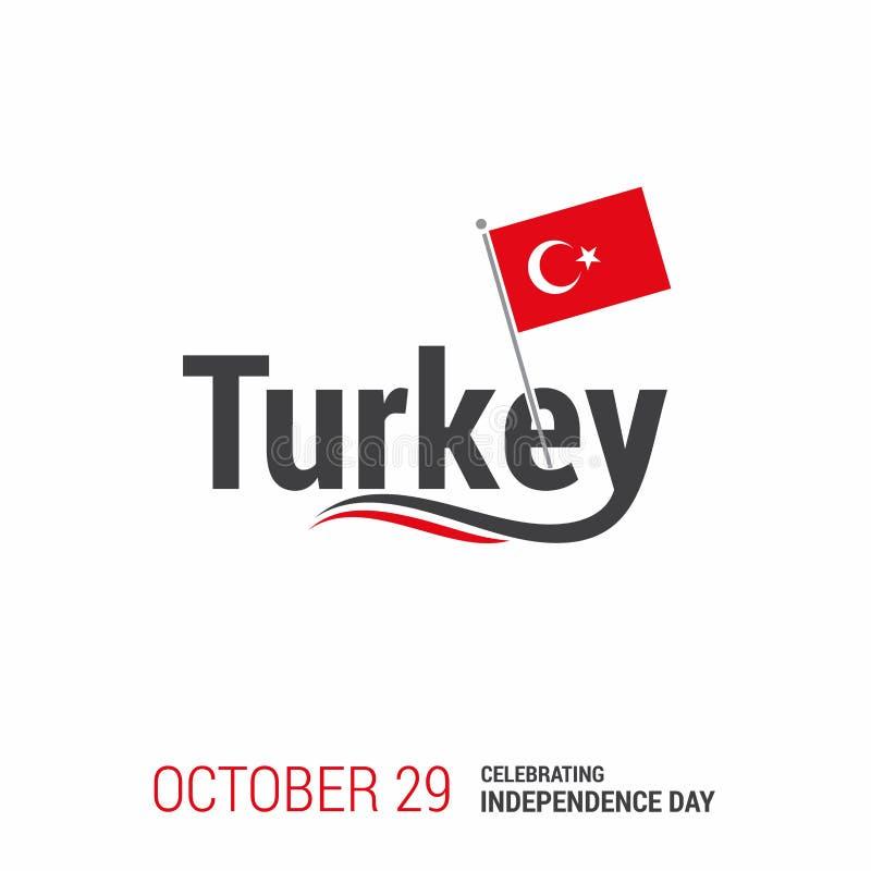 Vetor do cartão do projeto do Dia da Independência de Turquia ilustração stock