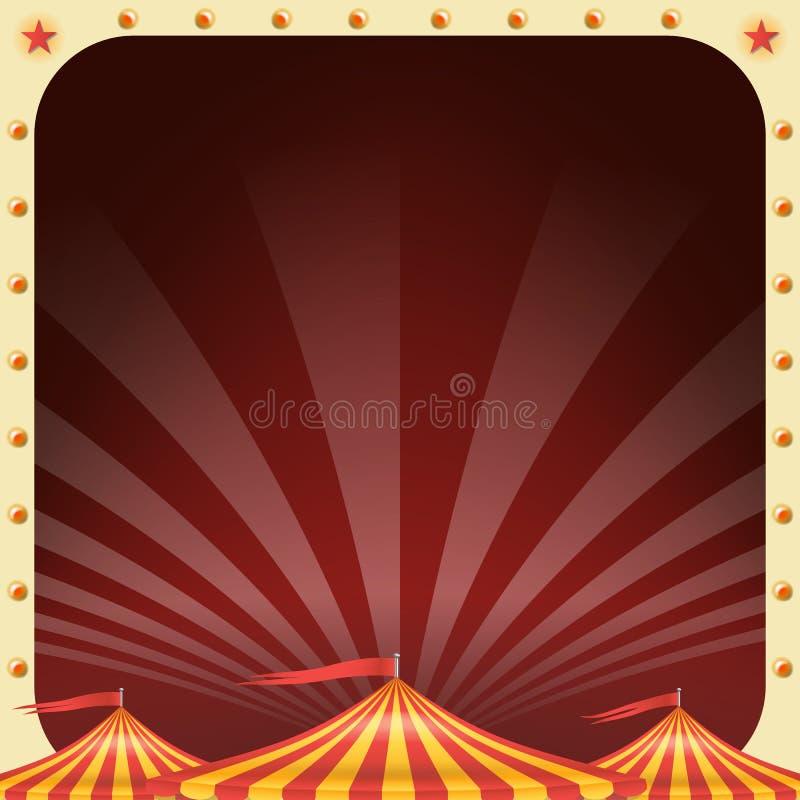 Vetor do cartaz do circo Fundo da tenda do circus Partido do parque de diversões Eventos dos feriados e conceito do entreteniment ilustração do vetor