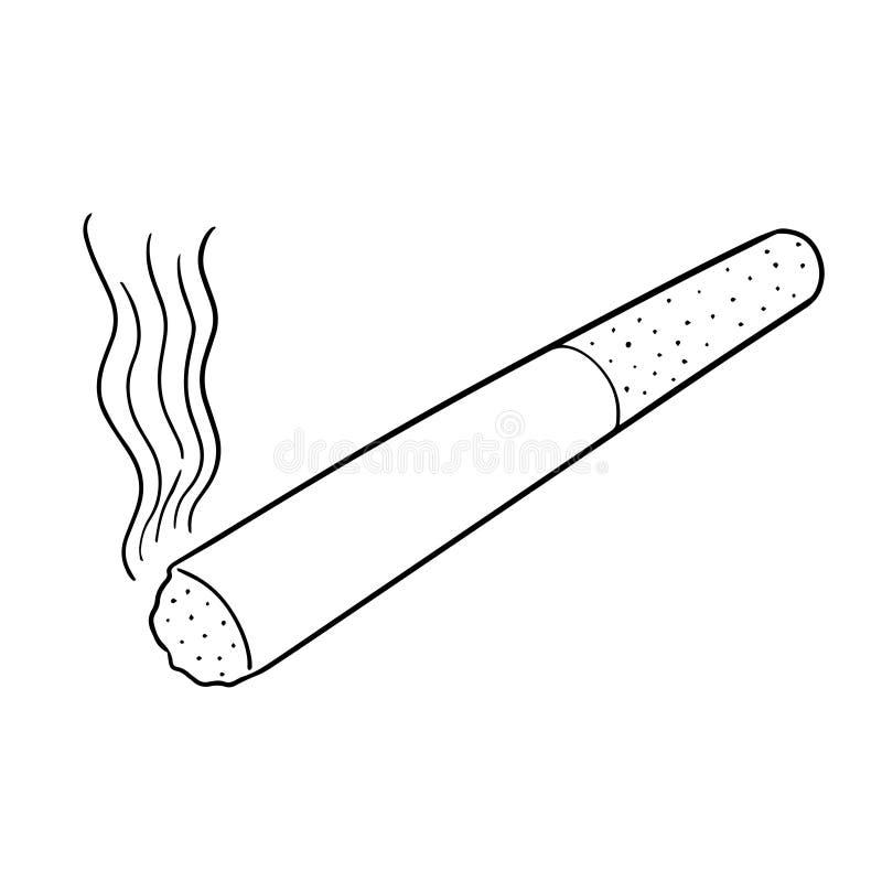 Vetor do cigarro ilustração do vetor