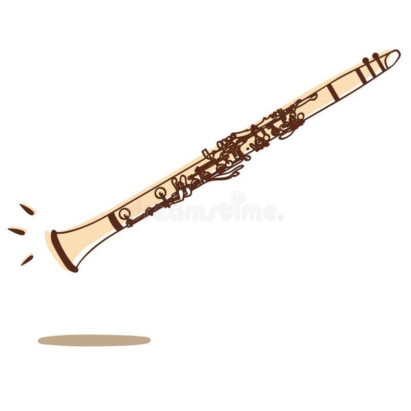Vetor do clarinete ilustração stock