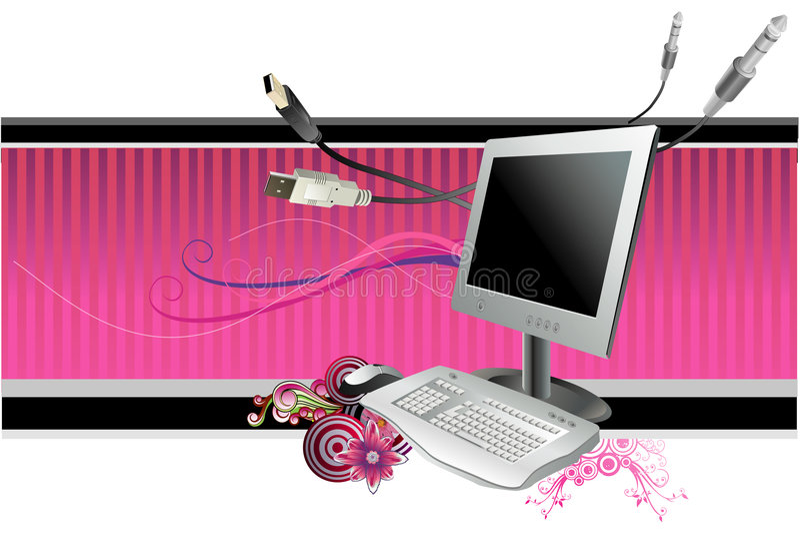 Vetor do computador ilustração do vetor