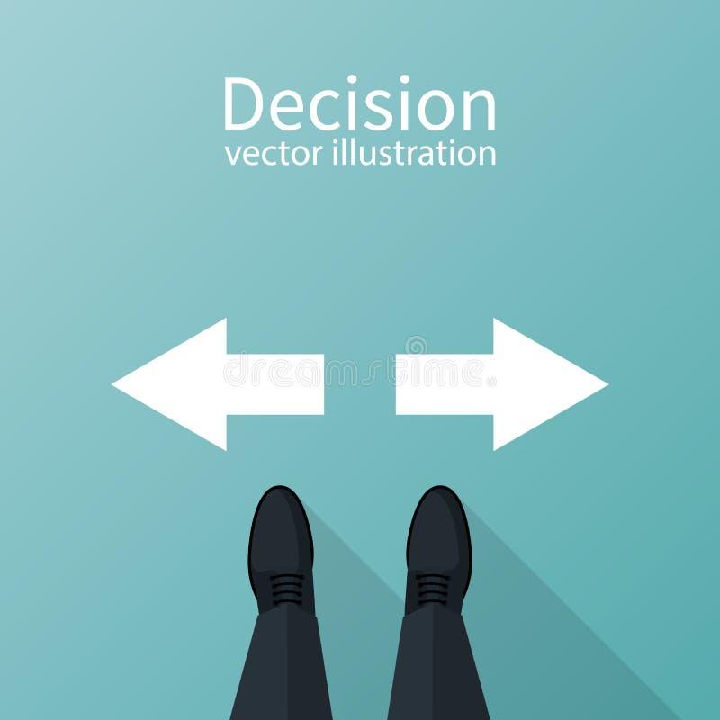 vetor do conceito da decisão ilustração stock