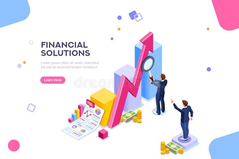Vetor do conceito da gestão da auditoria da pesquisa financeira ilustração royalty free