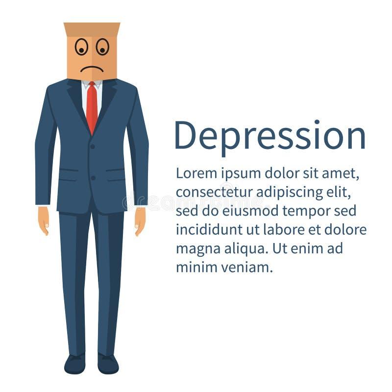 Vetor do conceito de Dipression ilustração stock