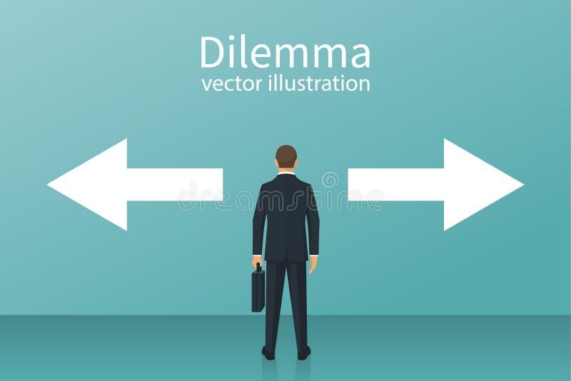 Vetor do conceito do dilema ilustração do vetor