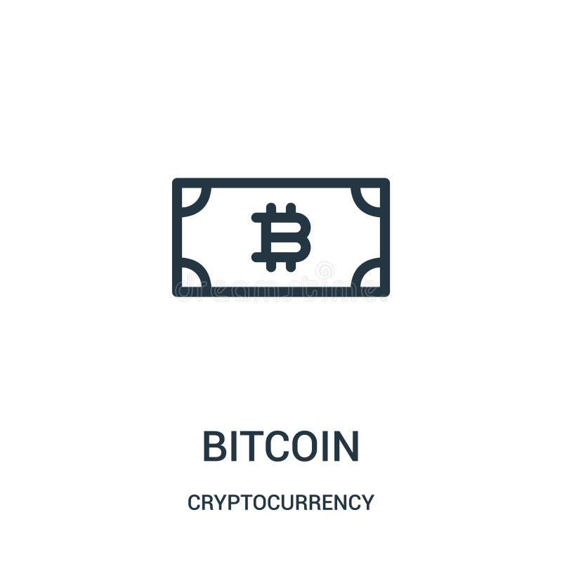vetor do ?cone do bitcoin da cole??o do cryptocurrency Linha fina ilustra??o do vetor do ?cone do esbo?o do bitcoin ilustração do vetor