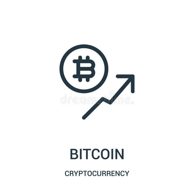 vetor do ?cone do bitcoin da cole??o do cryptocurrency Linha fina ilustra??o do vetor do ?cone do esbo?o do bitcoin ilustração royalty free