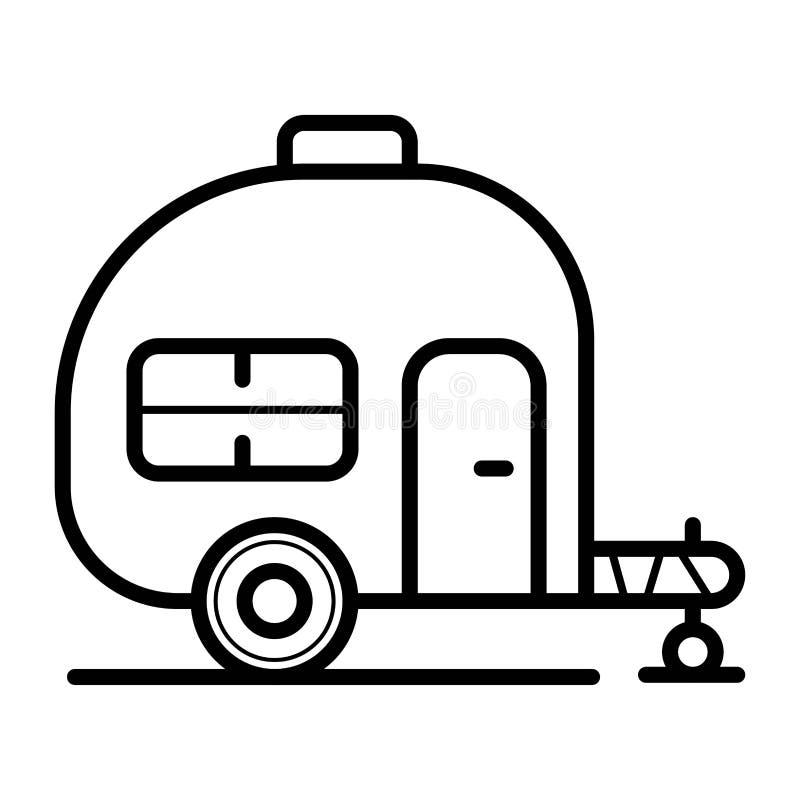 Vetor do ?cone da casa do reboque da caravana ilustração stock