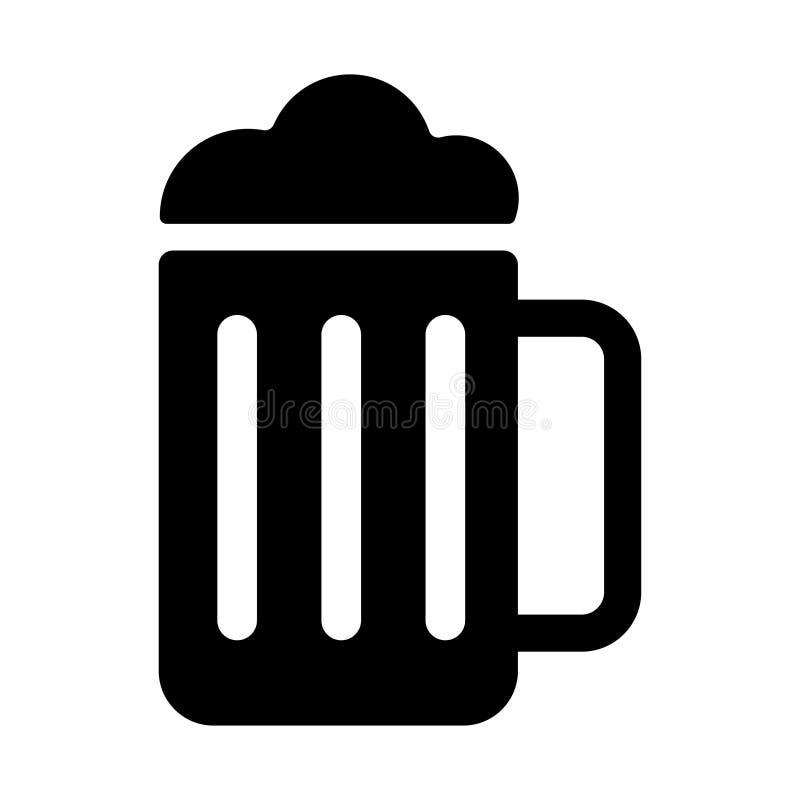 Vetor do ?cone da cerveja Brindando o ícone linear dos vidros de cerveja ilustração royalty free