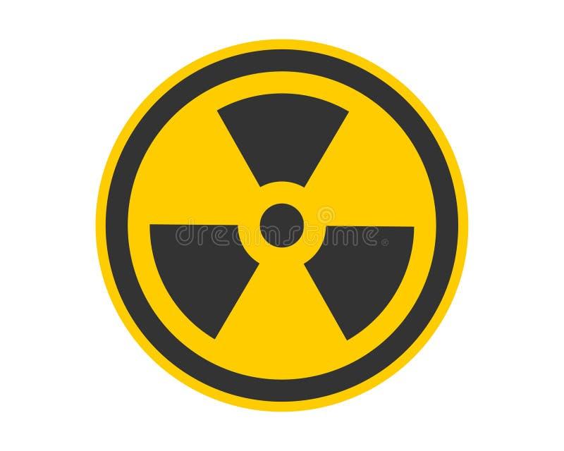 Vetor do ?cone da radia??o Símbolo radioativo de advertência do perigo do sinal ilustração royalty free