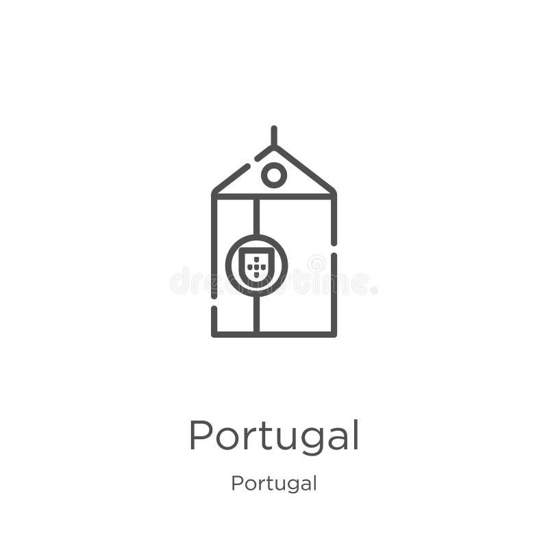 vetor do ?cone de Portugal da cole??o de Portugal Linha fina ilustra??o do vetor do ?cone do esbo?o de Portugal Esbo?o, linha fin ilustração royalty free