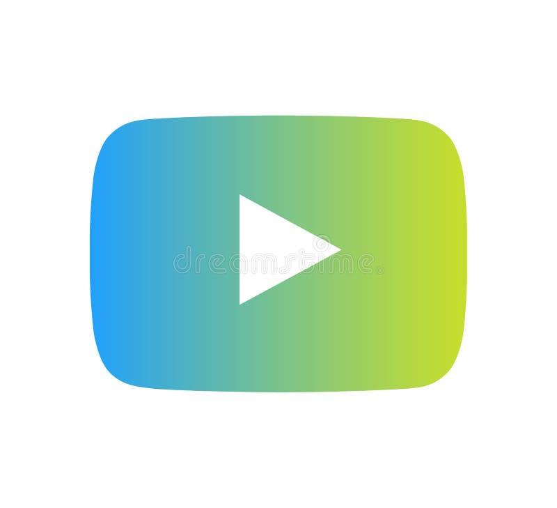Vetor do ?cone do logotipo de YouTube com ilustra??o moderna do projeto do inclina??o ilustração do vetor