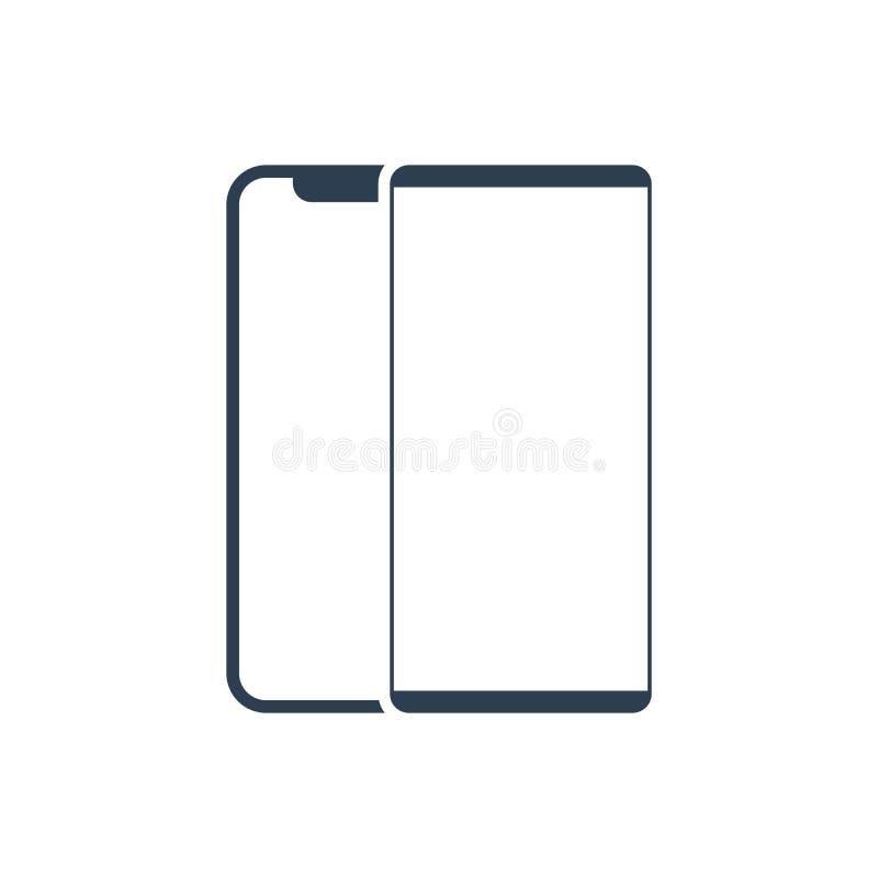 Vetor do ?cone do smartphone do telefone celular telefone digital do s?mbolo ilustração stock