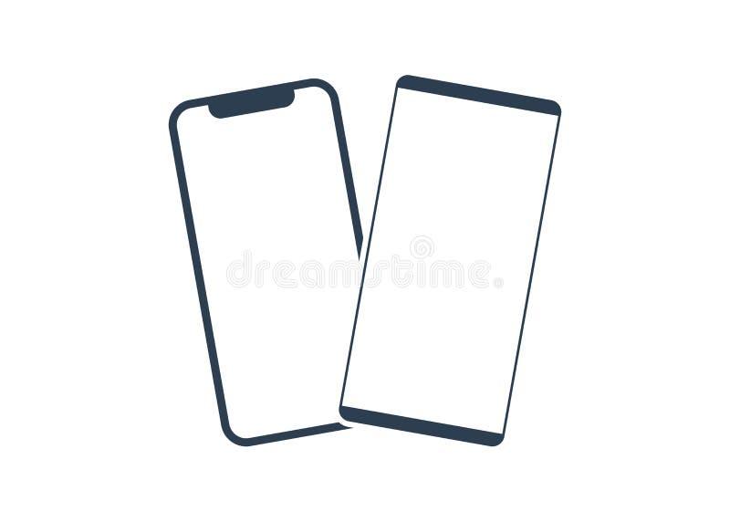Vetor do ?cone do smartphone do telefone celular telefone digital do s?mbolo ilustração do vetor