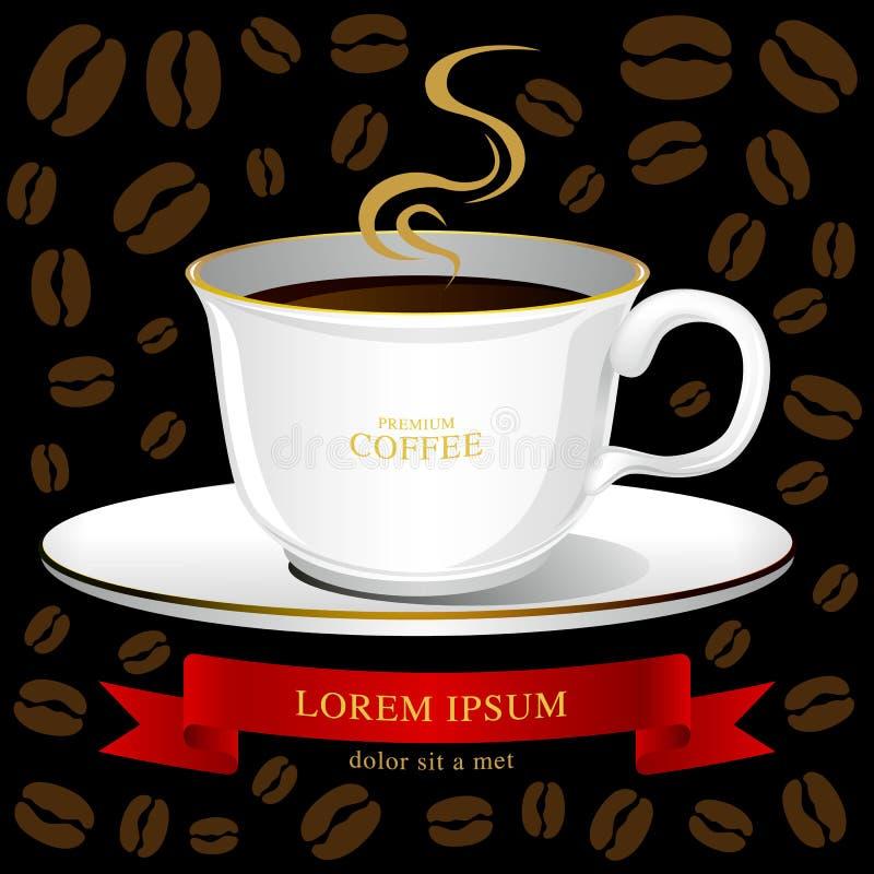 Vetor do copo de café, ideia criativa do café do projeto imagens de stock royalty free