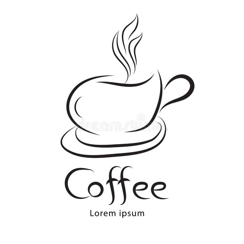 Vetor do copo de café, projeto do ícone, ícone da Web, sinal do negócio ilustração royalty free