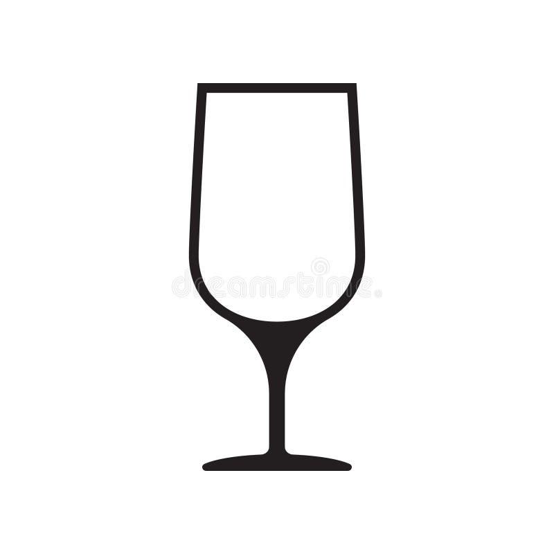 Vetor do copo de vinho, ?cone de vidro do vinho, s?mbolo Ilustra??o do vetor Ilustra??o do vetor isolada no fundo branco ilustração do vetor