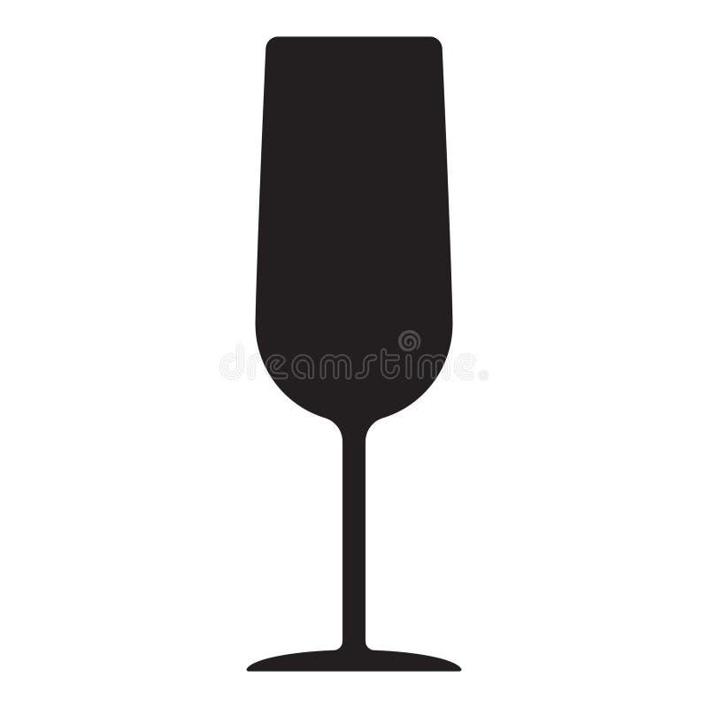 Vetor do copo de vinho, ?cone de vidro do vinho, s?mbolo ilustração royalty free