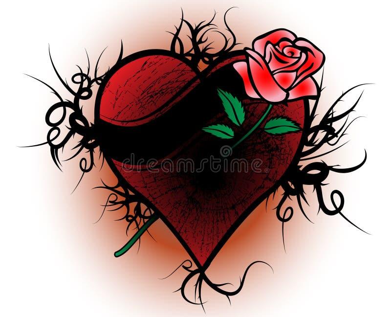 Vetor do coração quebrado ilustração royalty free