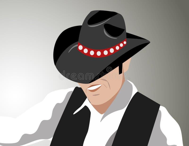 Vetor do cowboy ilustração stock