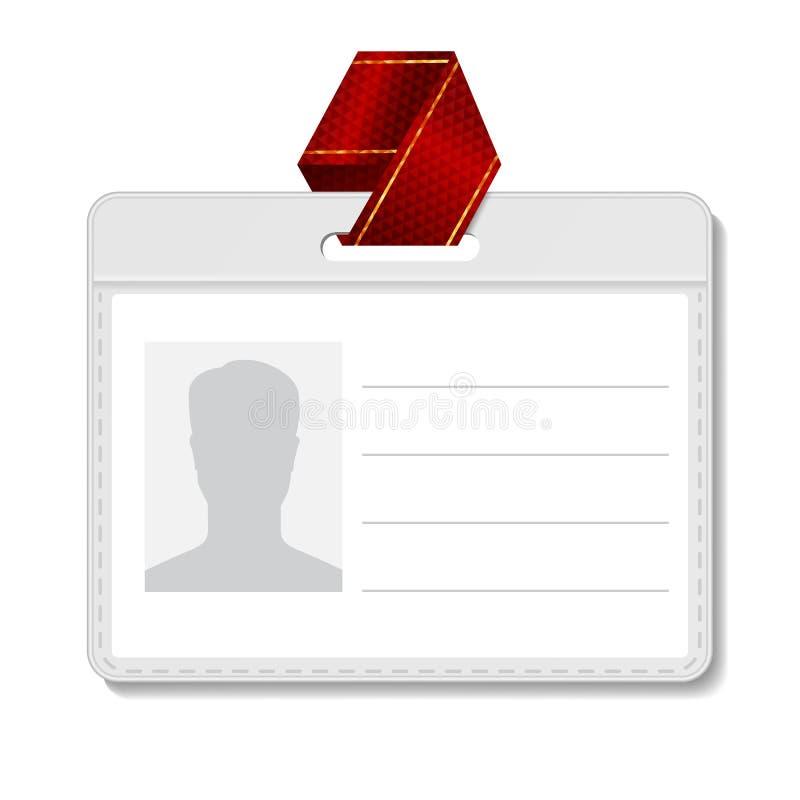 Vetor do crachá da identificação Placa do cartão da identificação Suporte do perfil do molde do nome Person Isolated Illustration ilustração royalty free
