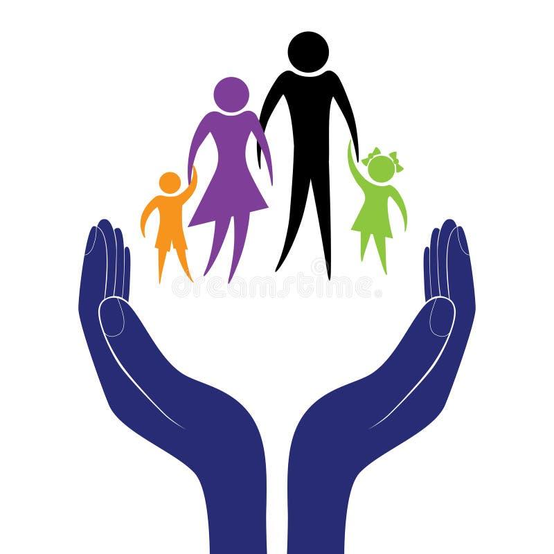 Vetor do cuidado da família ilustração do vetor