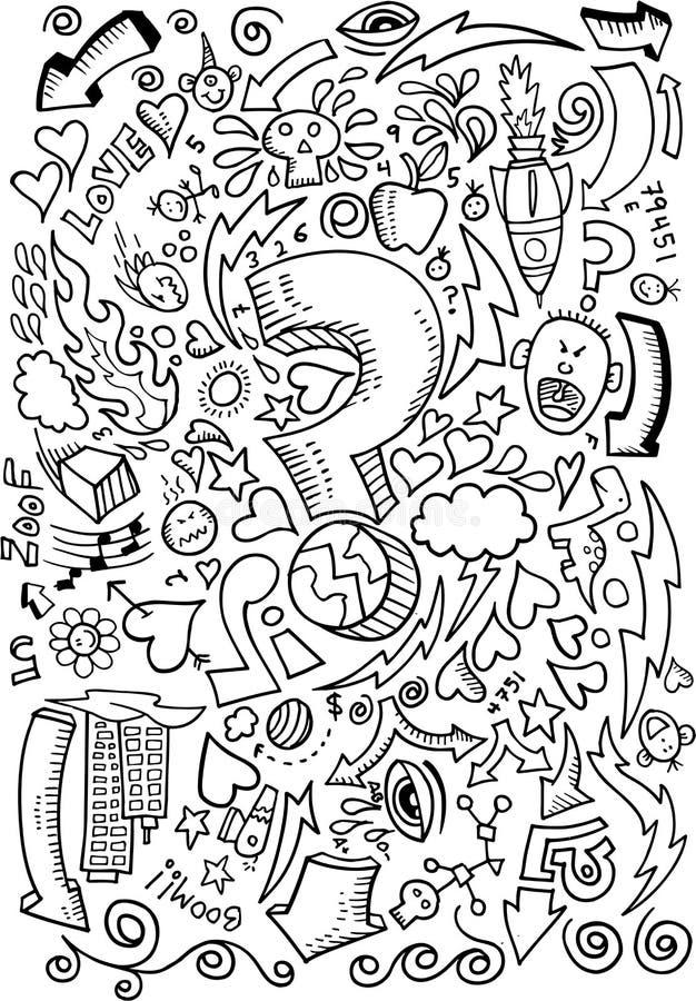 Vetor do desenho de esboço do Doodle ilustração stock