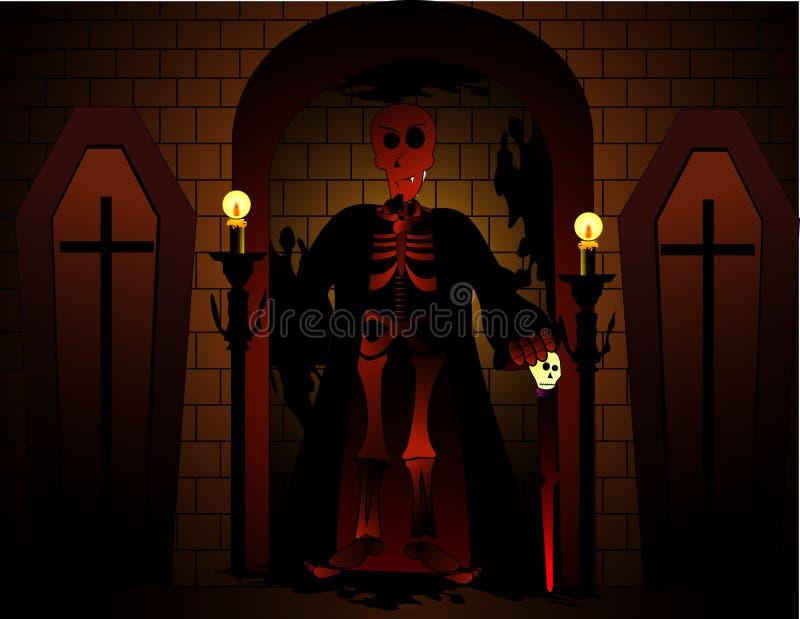 Vetor do diabo de Halloween ilustração stock