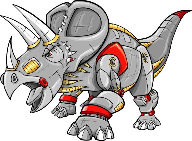 Vetor do dinossauro do Triceratops ilustração do vetor
