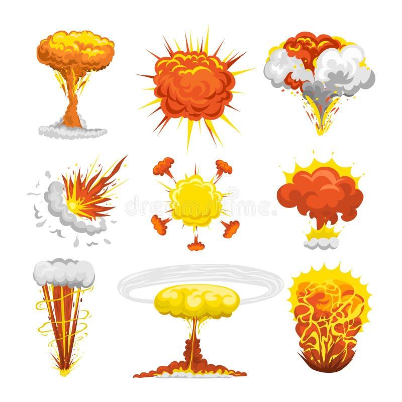 Vetor do efeito da explosão da bomba ilustração royalty free