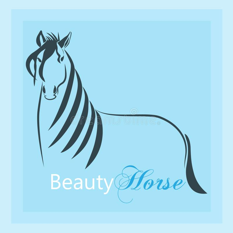 Vetor do emblema da silhueta do logotipo do cavalo ilustração do vetor