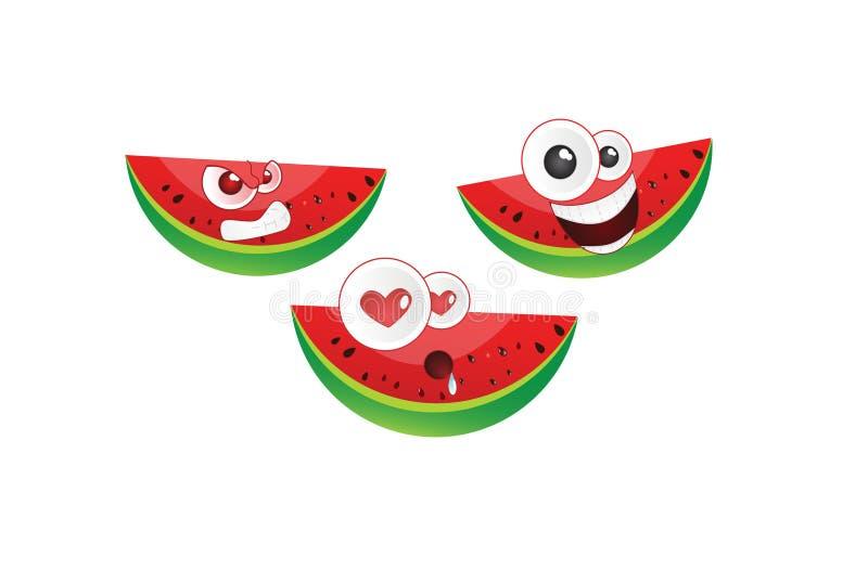 Vetor do emoticon da melancia fotografia de stock