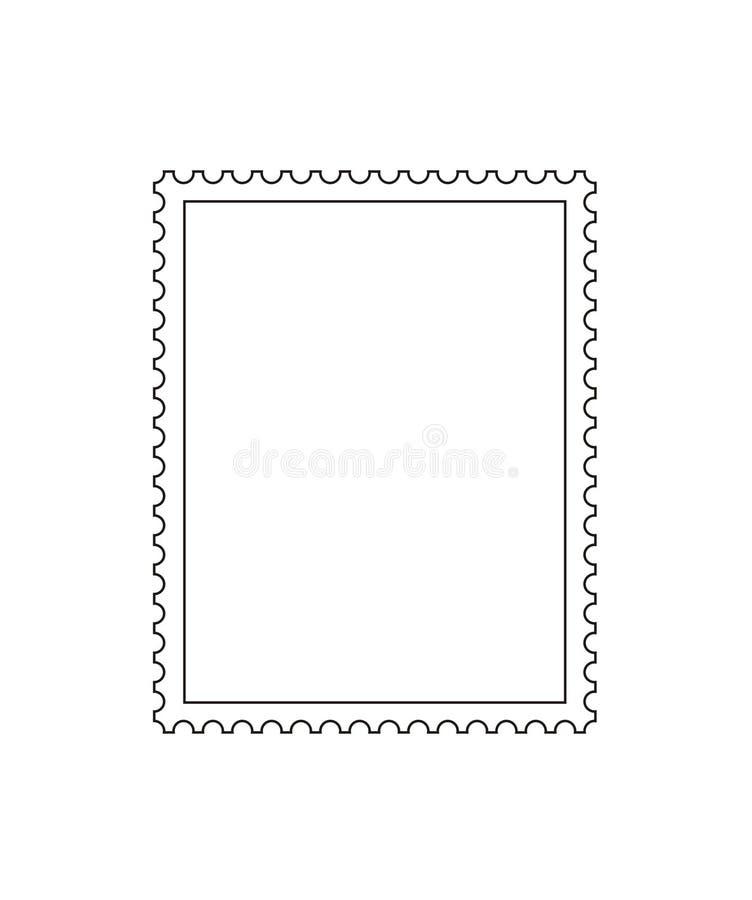 Vetor do esboço do selo de porte postal ilustração stock